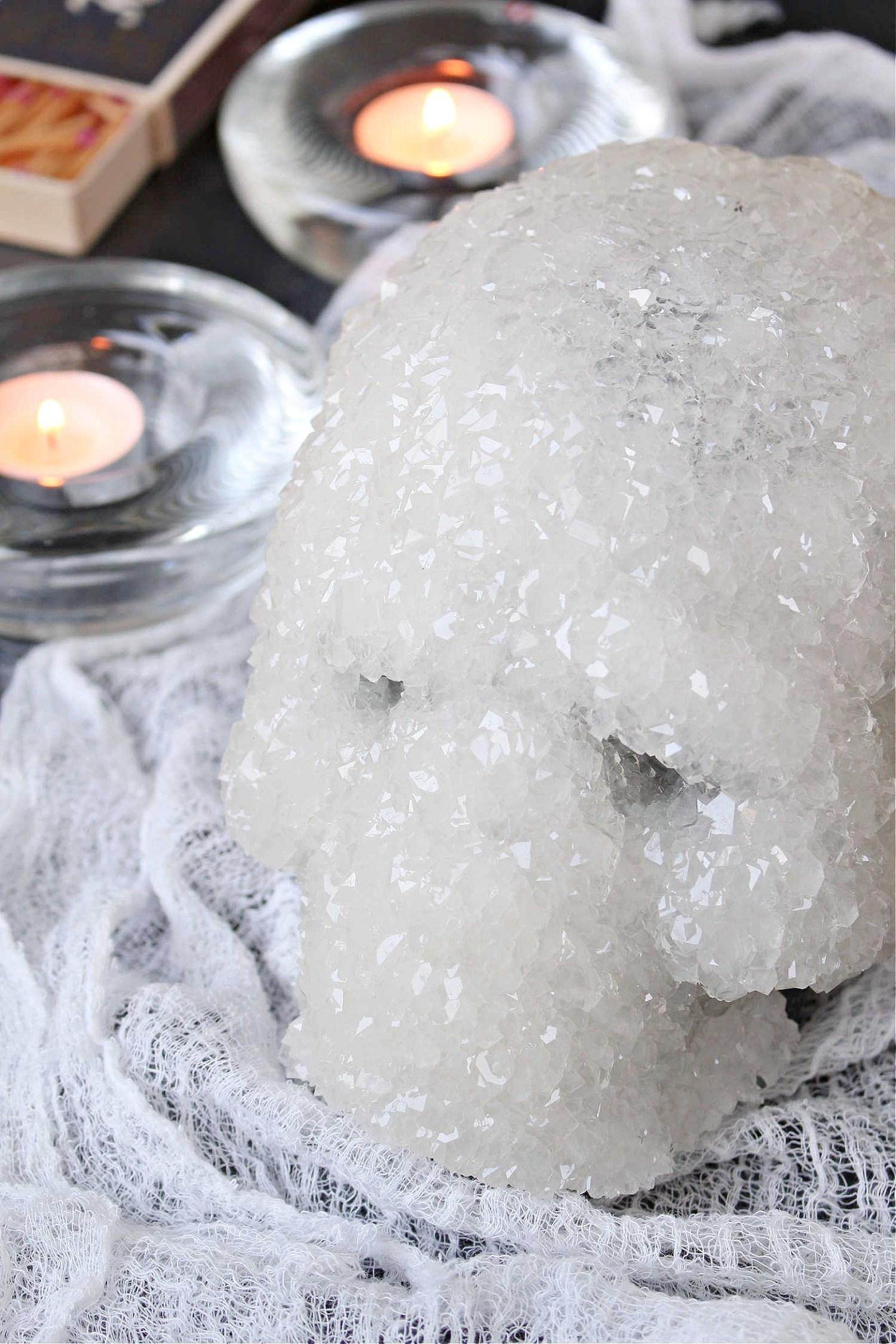 DIY Crystal Skulls for Halloween