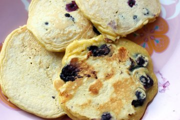 pancakes myrtilles chocolat blanc