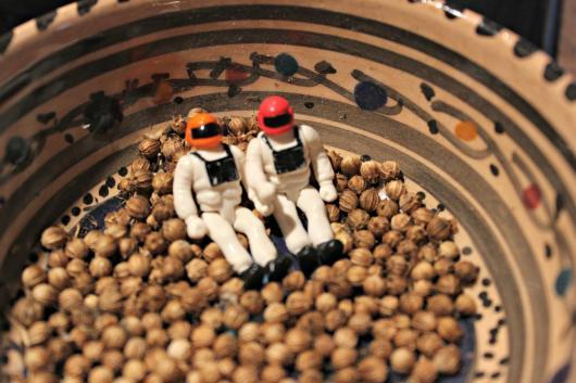 astronautes dans la coriandre