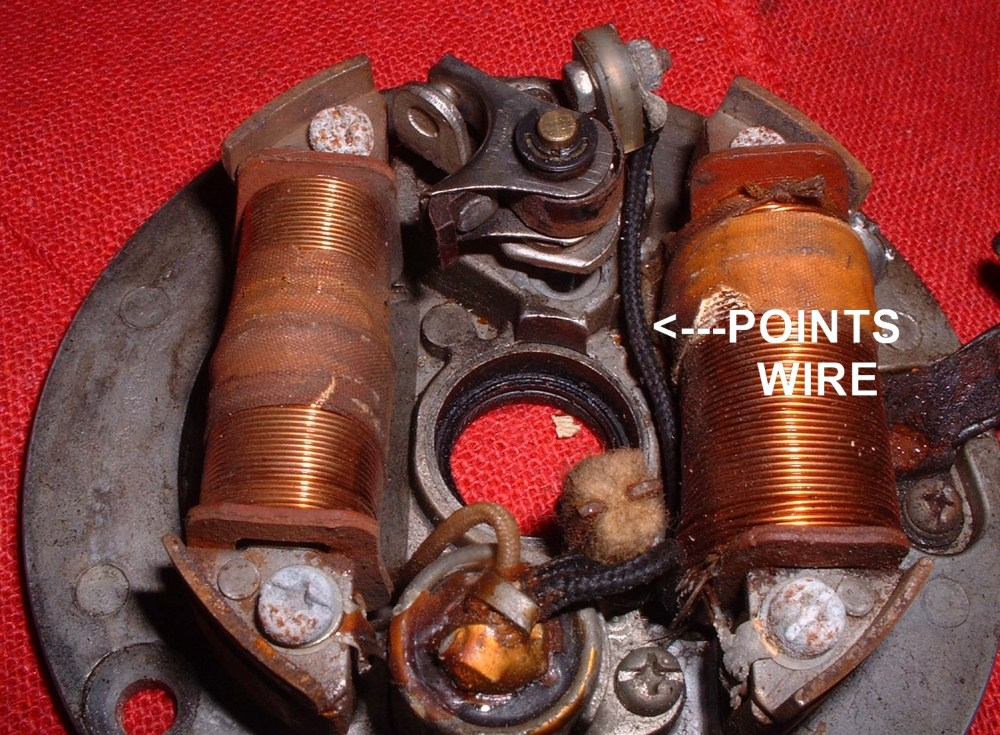 medium resolution of points wire dan s motorcycle flywheel magnetos points wire wiring for 1978 yamaha dt 100