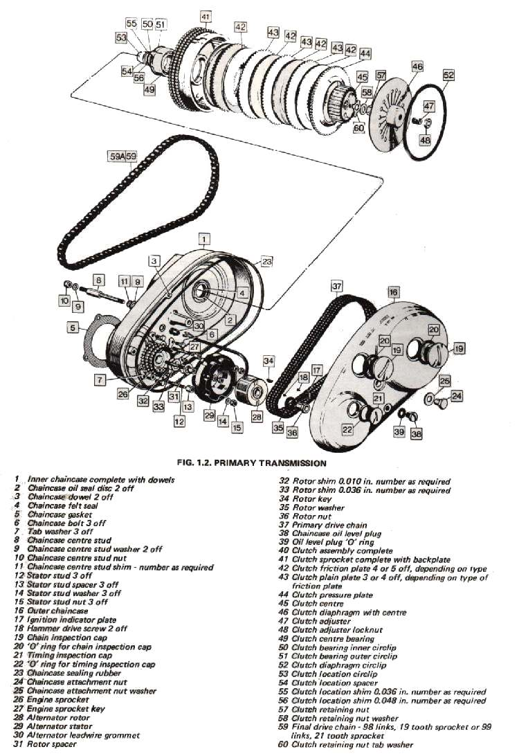 bicycle engine clutch kit diagram