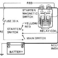 Starter Switch Wiring Diagram 1999 Dodge Durango Infinity Stereo Dan S Motorcycle Electric Starters Switches To