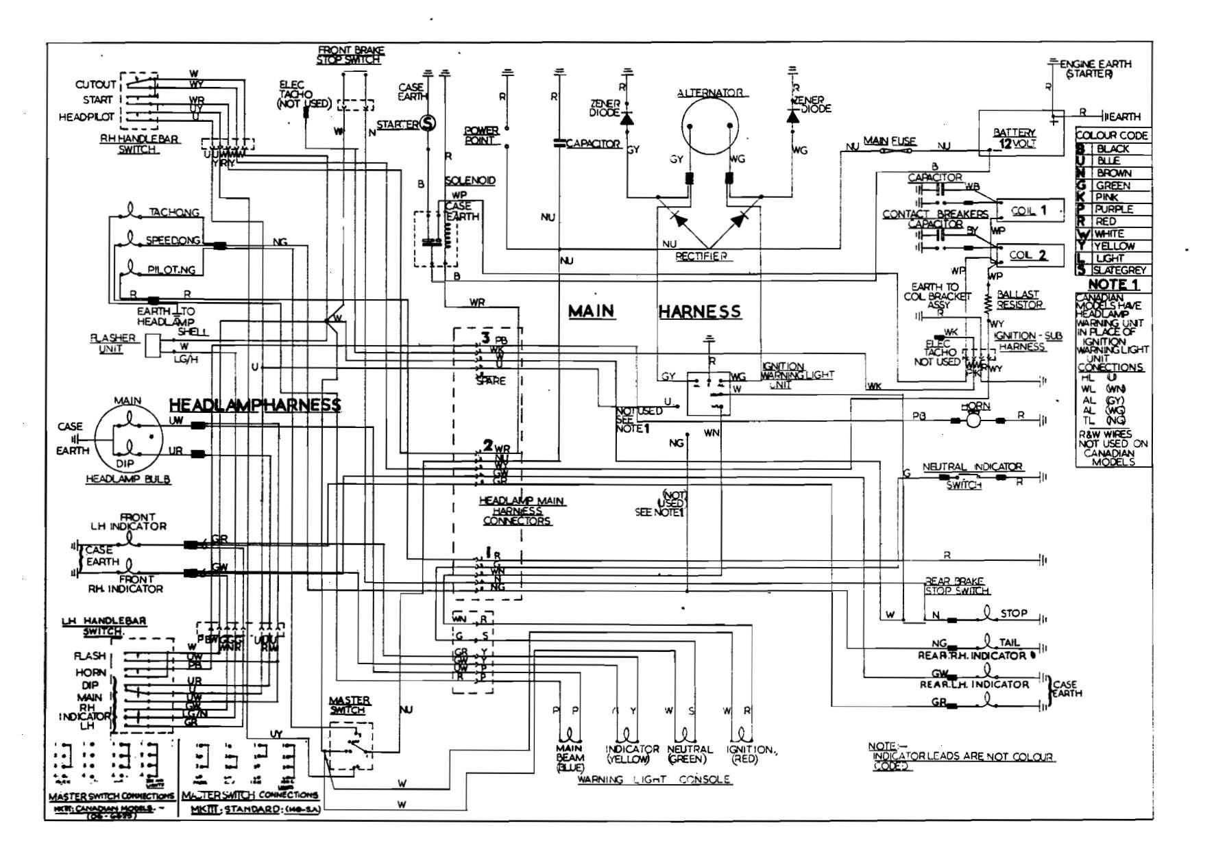1968 norton commando wiring diagram
