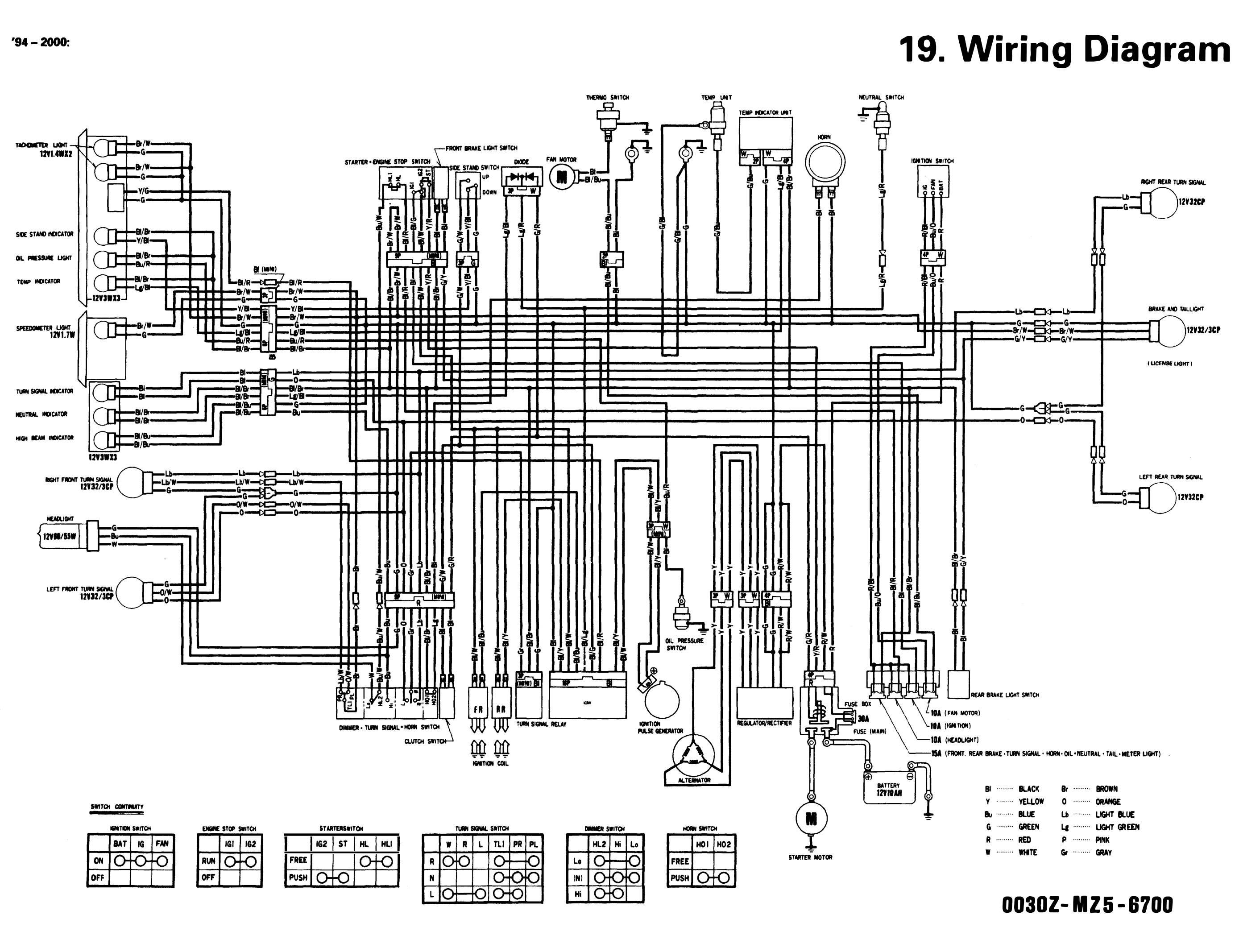 vt 750 wiring diagram