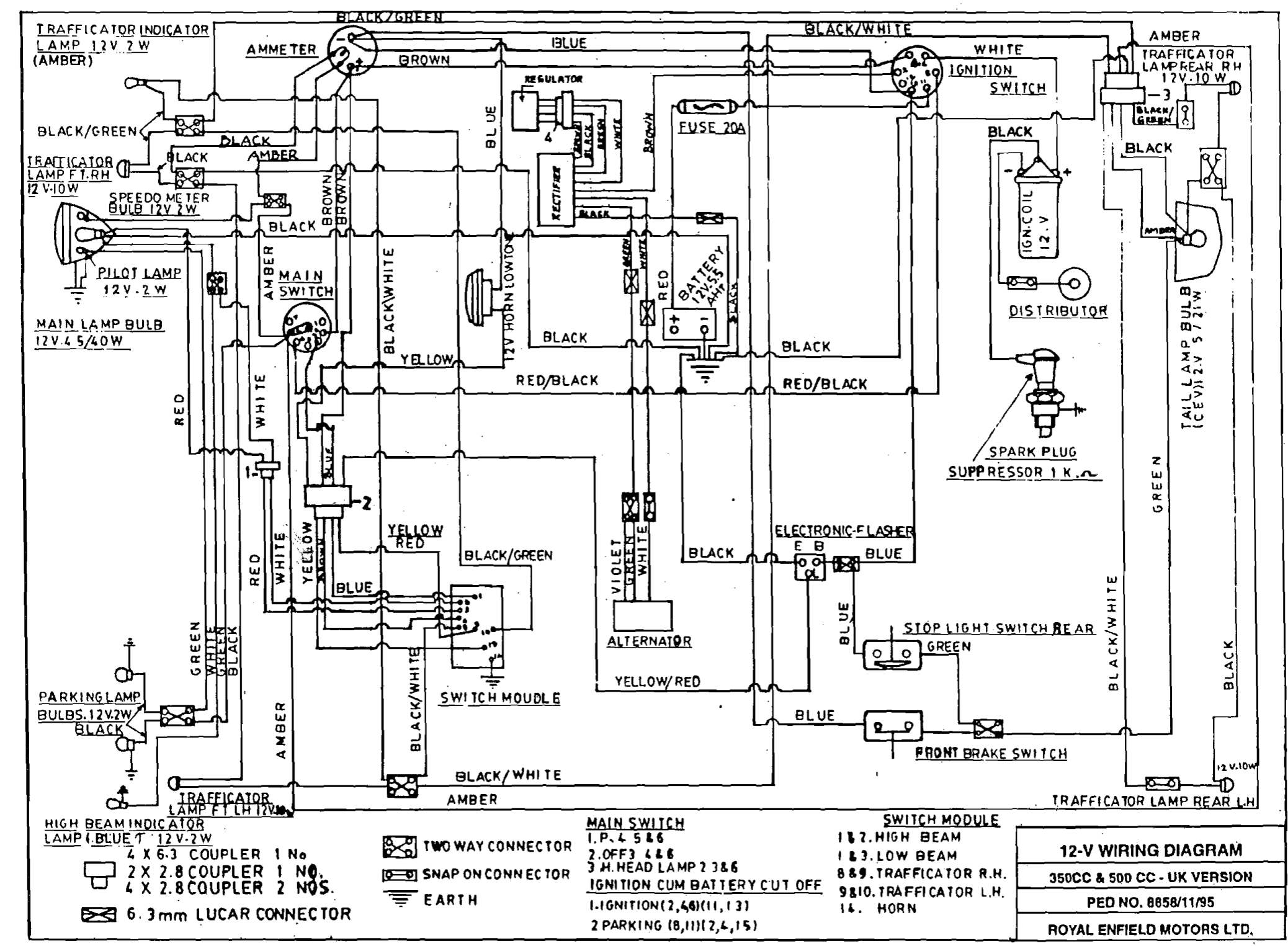 Royal Enfield Bullet 350 Wiring Diagram : 39 Wiring