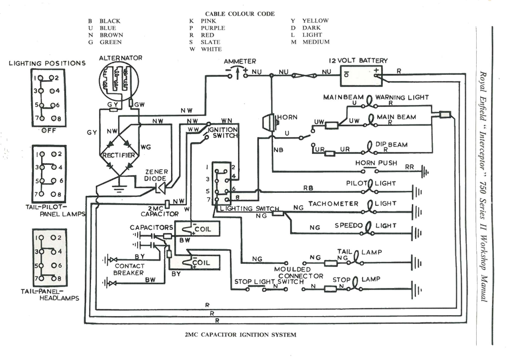 royal enfield electrical wiring diagram royal enfield colour wiring