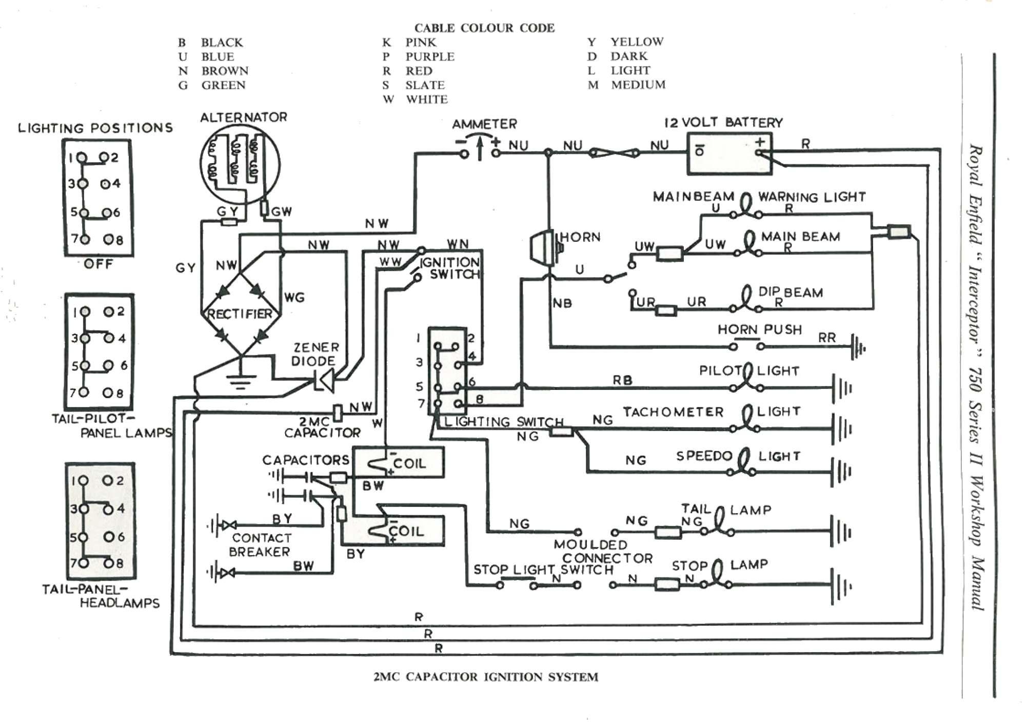 Royal Enfield 350 Wiring Diagram