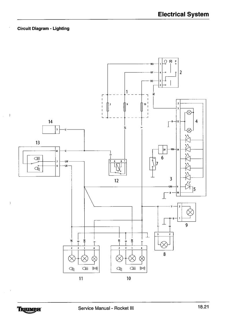 hight resolution of auxiliary and accessory circuit starting and charging circuit