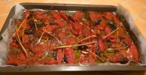 tomates confites après cuisson