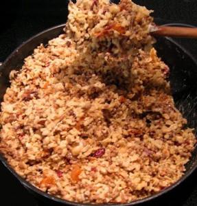 carrés aux céréales - cuisson