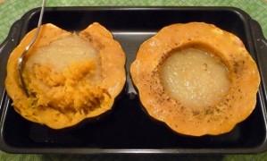 courge poivree a la pomme - apres cuisson