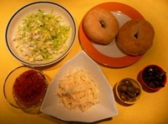 bagel tomate poireau - ingredients