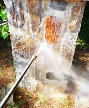 nettoyer depot sel efflorescence jet eau tp