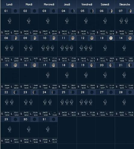 Calendrier Lunaire Peche 2021 Un calendrier lunaire de pêche est il vraiment fiable? | DANS