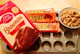 Ingredients brownies au chocolat Reeses