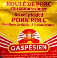 Roule de porc en saumure douce