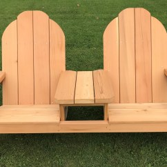 Tete A Chair Outdoor Tub Bench Vs Shower Two Person Slanted Seating E Adirondack