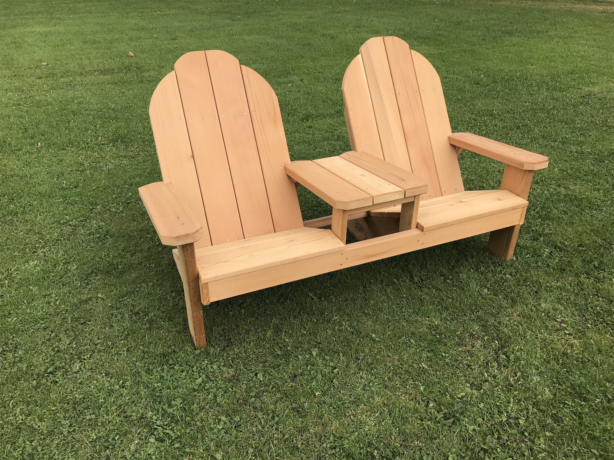 tete a chair outdoor hanging chairs australia two person slanted seating e adirondack bench