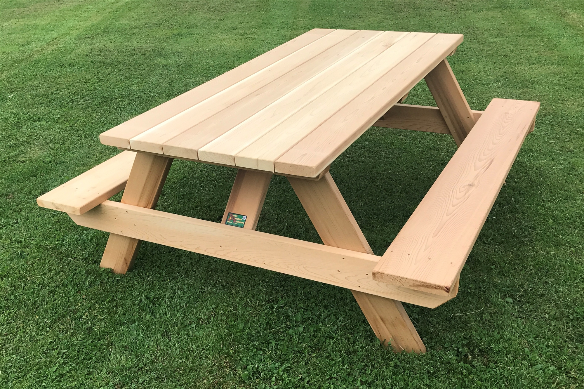 Classic 6 HeavyDuty Wooden Picnic Table for Home or Business