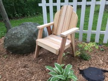 Contoured Solid Clear Western Red Cedar Ozark Patio Chair
