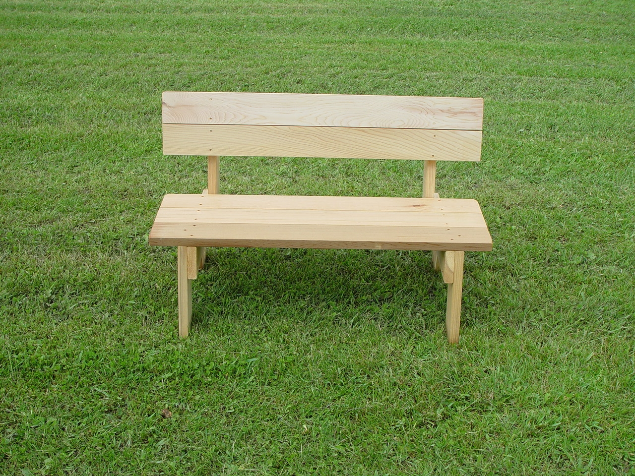 Small 36 Handcrafted Red Cedar Bench Park for Children