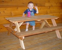 """48"""" Kids Picnic Table. Easy to move, seats 6 children. 48 ..."""