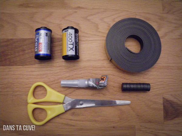 Ce qu'il vous faut pour faire un magnet pellicule
