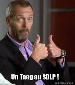 Un Taag au SDLP !