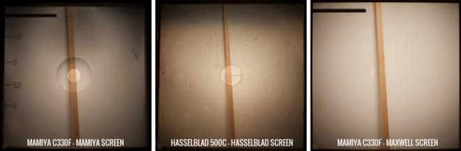 Verre de visée Mamiya Hasselblad Maxwell