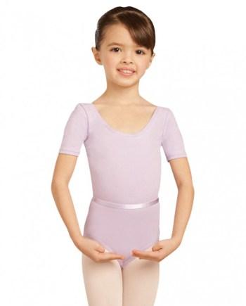 Capezio CAD400C short sleeve leotard balletpakje met krte mouw