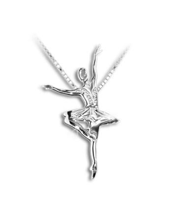 ballet-ketting-ballet-hanger-dans-ketting-zilver-witgoud