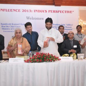 DANTAH Toothbrush being inaugurated by Hon'ble Minister for Culture (Mrs.Chandresh Kumari Katoch) & Hon'ble Minister of State for Rural Development (Mr. Pardeep Jain) during Confluence 2013:India's Prespective