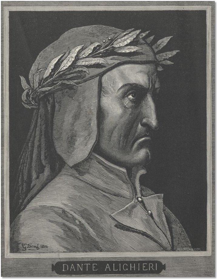 Illustrations from Dante's Inferno, Portrait of Dante Alighieri