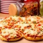 Mini Cheese and Tomato Pizzas