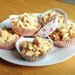 White Chocolate and Apricots Krispy Cakes