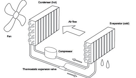 How does a Dantherm dehumidifier work?
