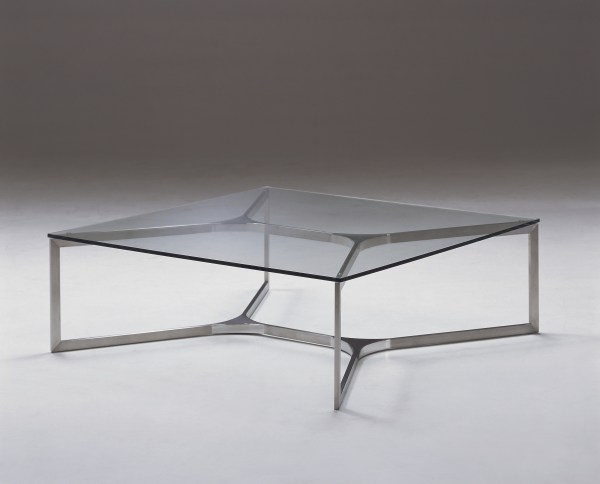 Metal and Glass Coffee Table Square