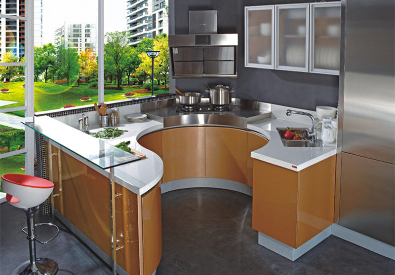 European style modern flat pack kitchen ready made