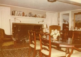 Snapshot view of the dining room in the late 1970s