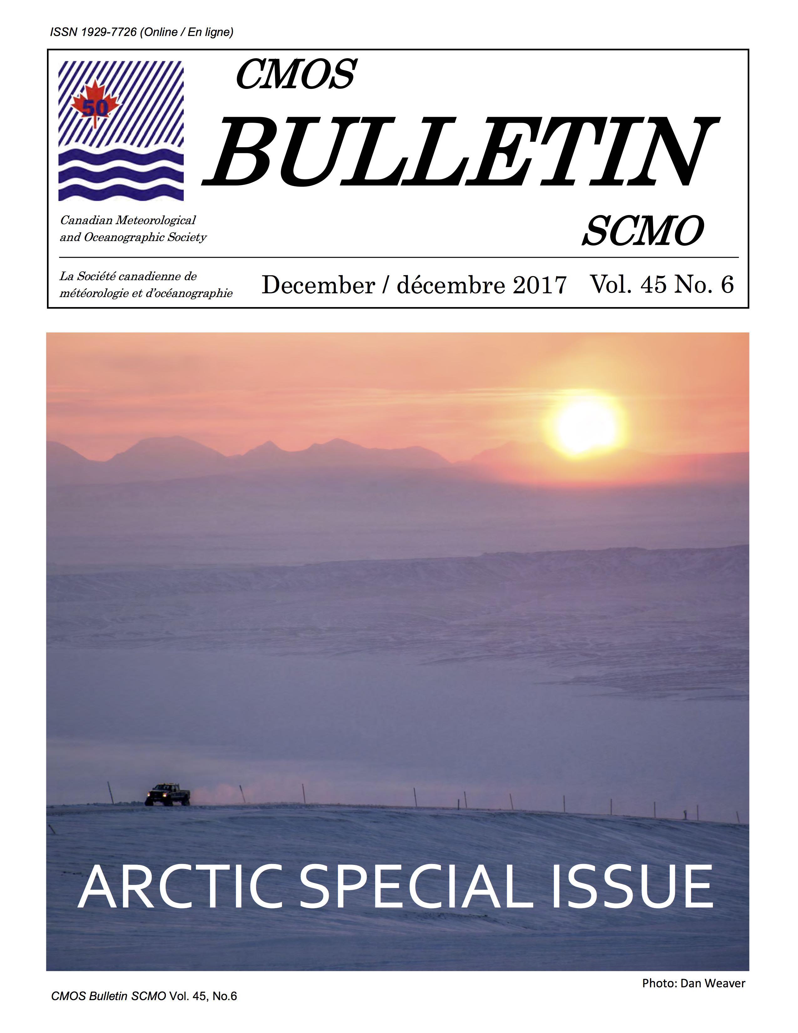 CMOS Bulletin cover (Dec. 2017)