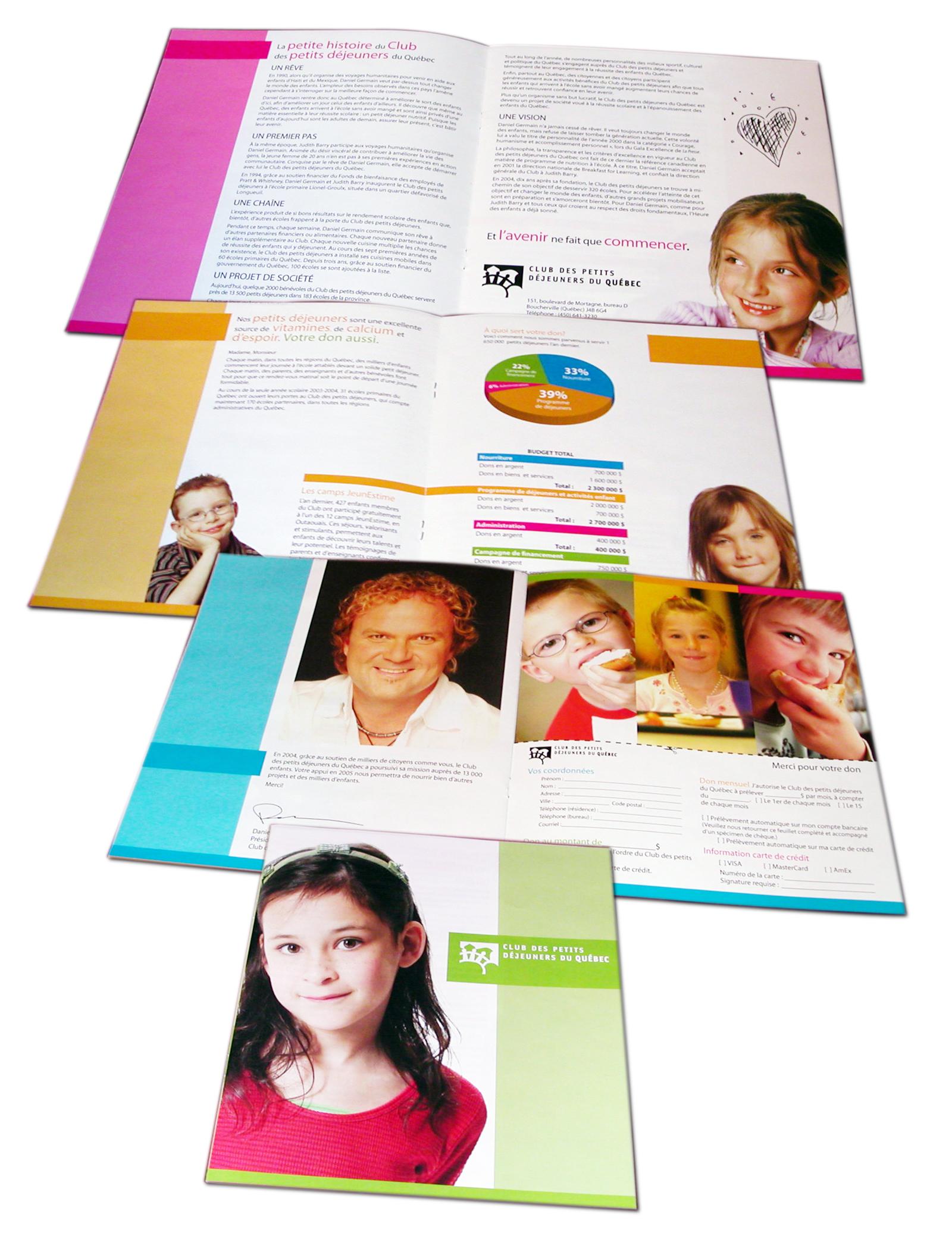 brochure Club des Petits Dejeuners du Quebec du