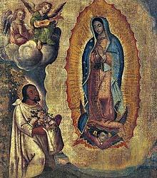Tercera+aparicion+de+la+Virgen+de+Guadalupe+a+Juan+Diego.+Anónimo+del+siglo+XVIII.