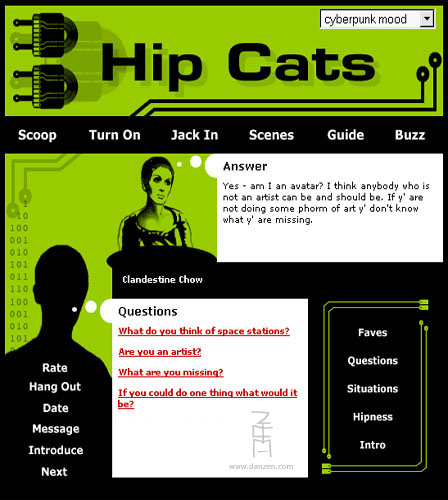 Hip Cats Social Networking Site