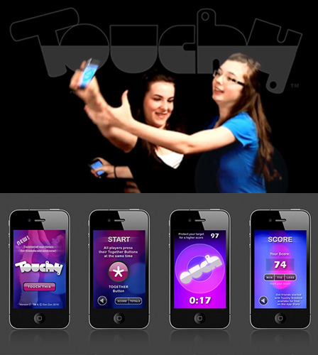 Touchy - Mobile Mediated Game for iPhone, etc.