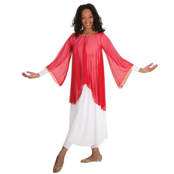 Body Wrappers Chiffon Flowing Draped Bell Angel Sleeve