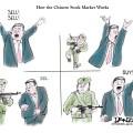 China stock market political cartoon