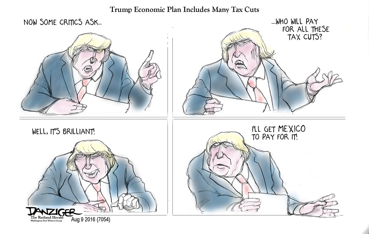 Image result for cartoons trump economics