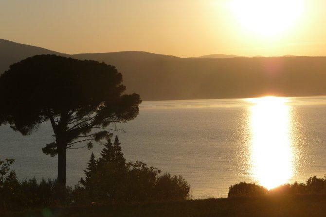 Jahrestraining Achtsamkeit im DAO Zentrum, Sonnenuntergang am Meer