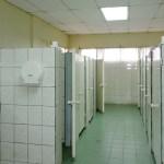Dorm common bathroom