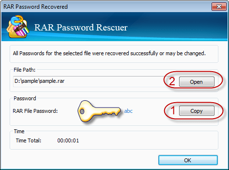 rar password recovery registration name and code